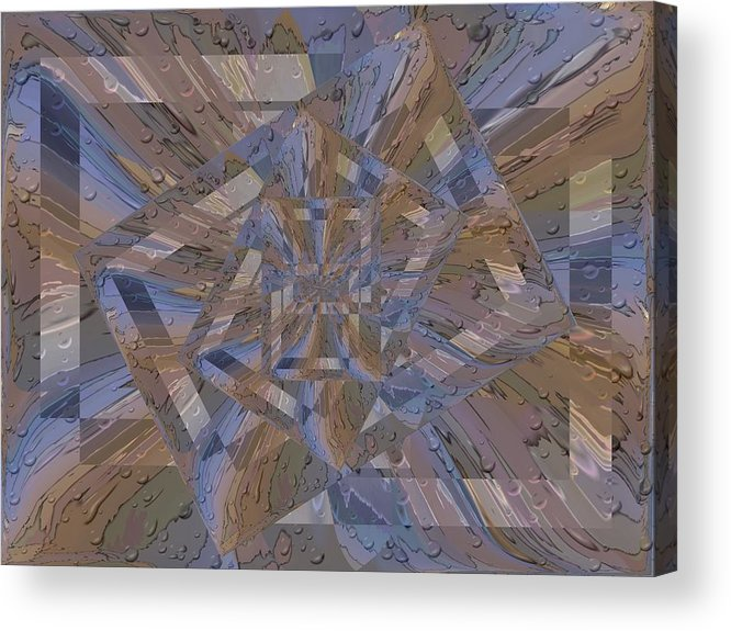 Rain Acrylic Print featuring the digital art Rainy Day Portal 4 by Tim Allen