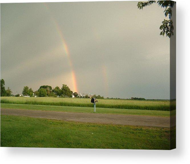 Rainbow Acrylic Print featuring the photograph Ray Bow by Bonfire Photography