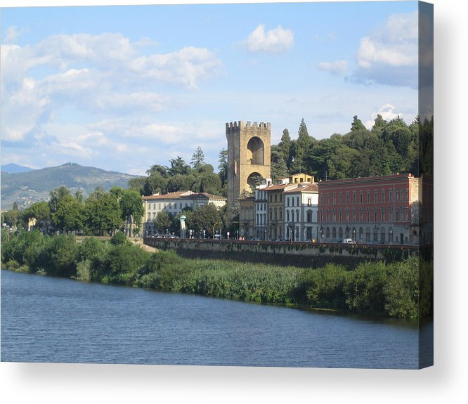 River Acrylic Print featuring the photograph River View by Angela Rose