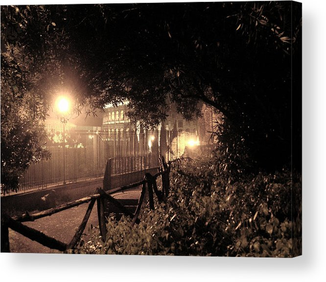 Acrylic Print featuring the photograph Roman Night by Allison Whitmer