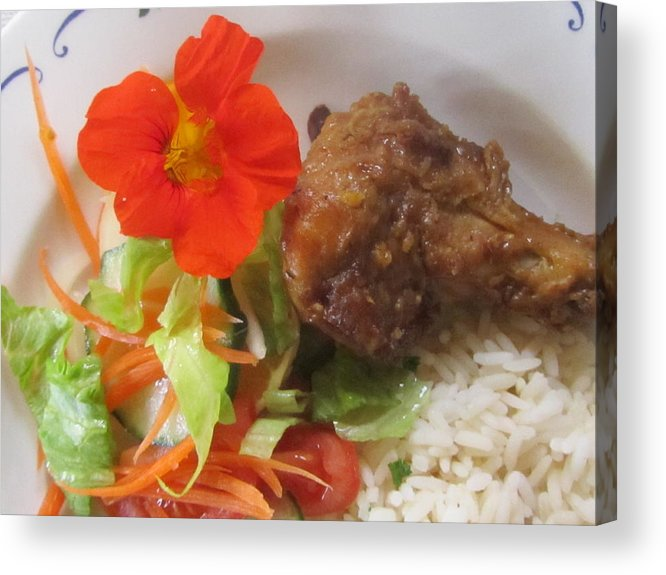 Chicken Acrylic Print featuring the photograph Rooibos Meal by Vijay Sharon Govender