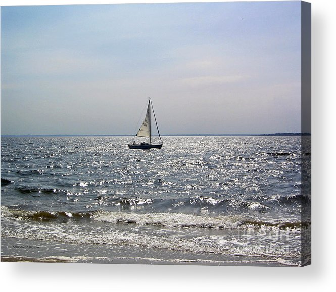 Sailboat Acrylic Print featuring the photograph Sail Alone by Anne Ferguson