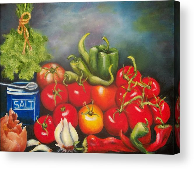 Salsa Acrylic Print featuring the painting Salsa by Joni McPherson