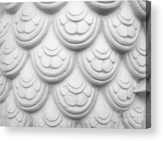 Abstract Acrylic Print featuring the relief Scale Of Naga Statue by Phalakon Jaisangat