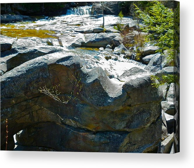 Landscape Acrylic Print featuring the photograph Screw Auger Falls Top 2 by George Ramos