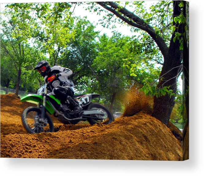 Dirtbike Acrylic Print featuring the photograph Seventeen by Darrell Moseley