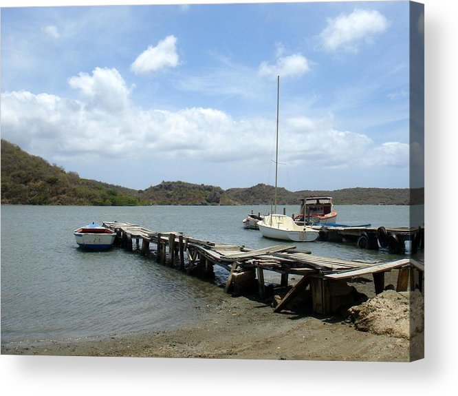 Ocean Boats Acrylic Print featuring the photograph Small Harbour by Marlon Scoop