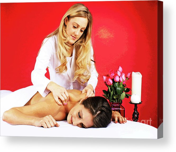Spa Acrylic Print featuring the photograph Special Spa Massage by Larry Oskin