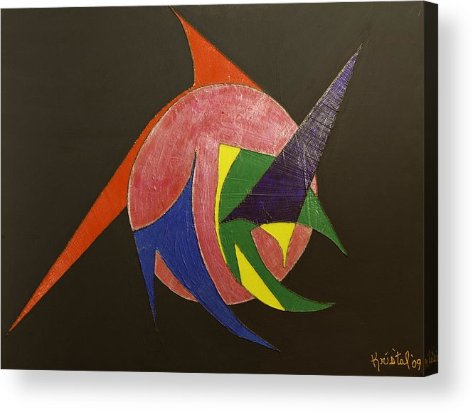 Acrylic Print featuring the painting Star Trek by Kris Tal Knutson