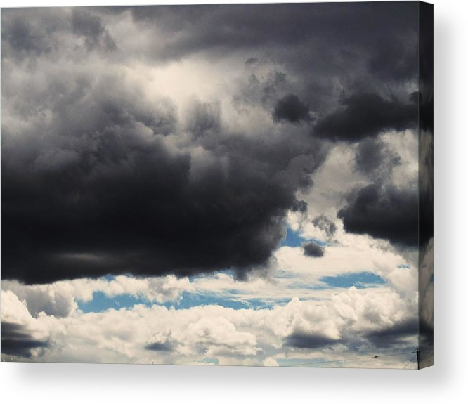Storm Clouds Acrylic Print featuring the photograph Storm Clouds-1 by Todd Sherlock