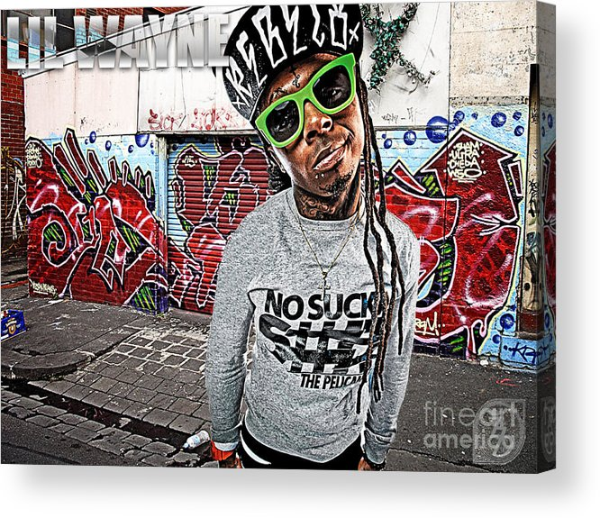 Little Wayne Acrylic Print featuring the digital art Street Phenomenon Lil Wayne by The DigArtisT