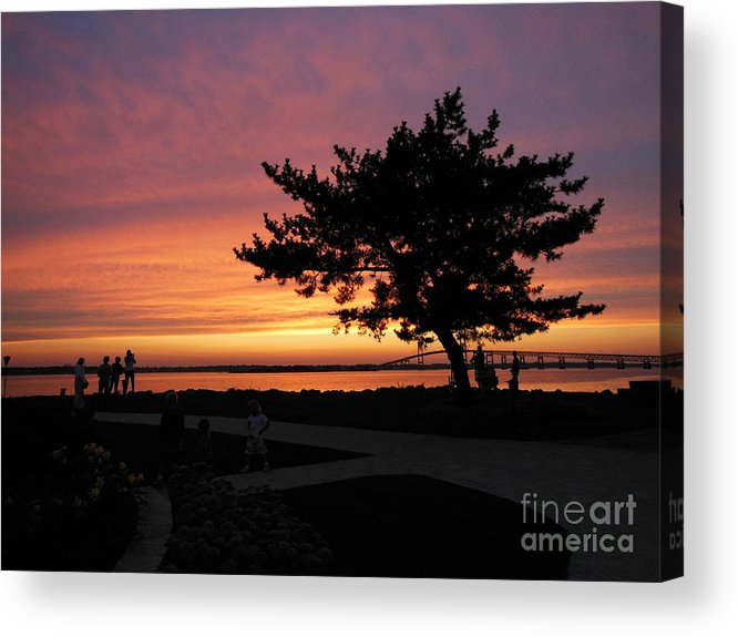 Newport Acrylic Print featuring the photograph Summer Sunset by Eclectic Captures