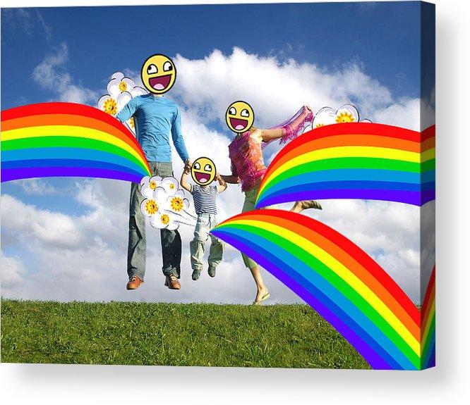 Happy Acrylic Print featuring the digital art Sunfarts by Jennifer Frisch