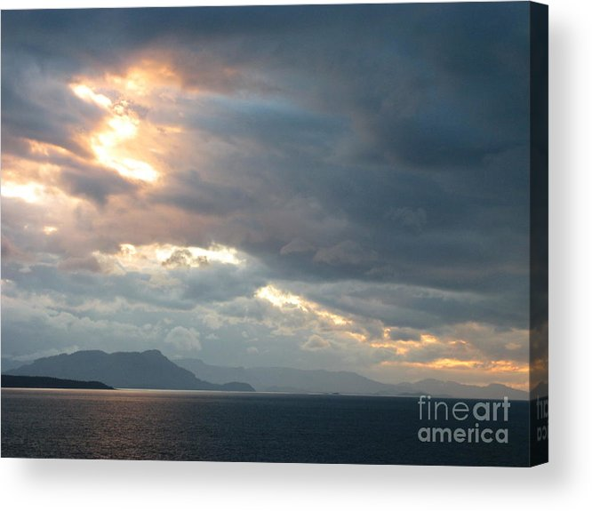 Acrylic Print featuring the photograph Sunset In Alaska by Gail Behrik
