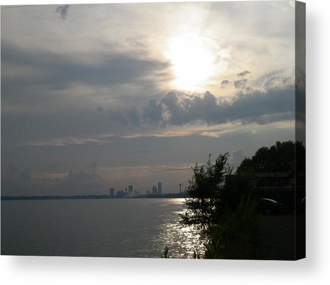 Sunset Acrylic Print featuring the photograph Sunset On Niagara River by William William