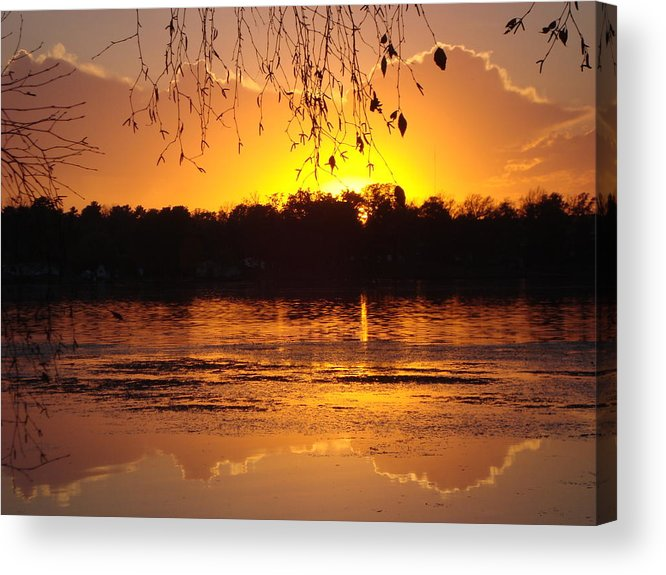 Acrylic Print featuring the photograph Sunset On Rice Lake by James Hammen
