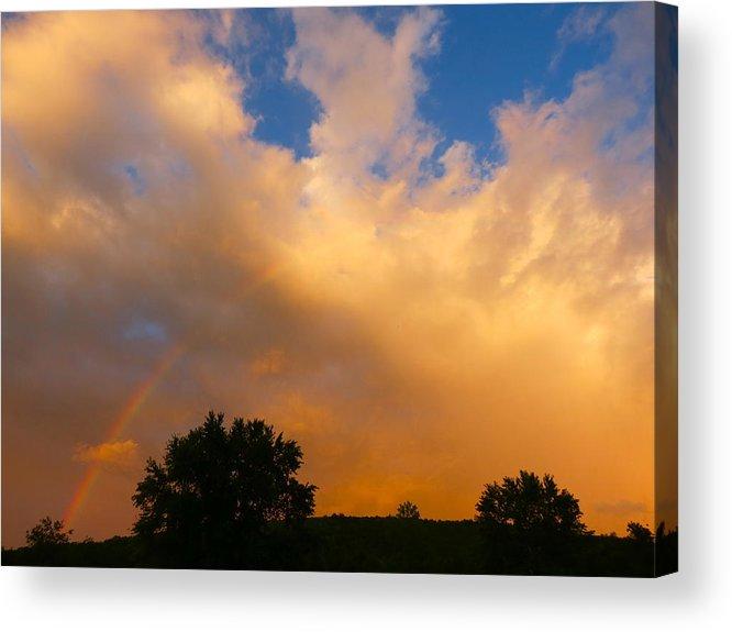 Sky Acrylic Print featuring the photograph Sunset Rainbow by Azthet Photography