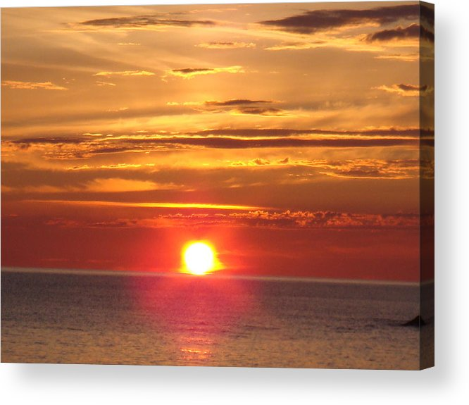 Sunset Acrylic Print featuring the photograph Superior Setting by Bonfire Photography