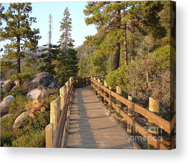 Lake Tahoe Acrylic Print featuring the photograph Tahoe Bridge by Silvie Kendall