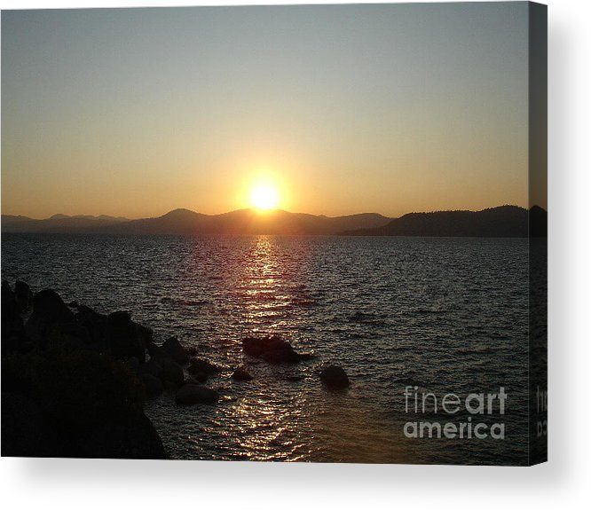 Sunset Acrylic Print featuring the photograph Tahoe Sunset by Silvie Kendall