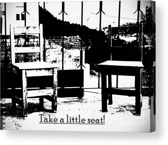 2 Acrylic Print featuring the photograph Take A Little Seat by Tanja Cathrin Liebig