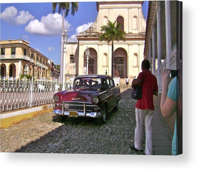 Tropical City Scape Acrylic Print featuring the photograph Taxi Please by Laurel Fredericks