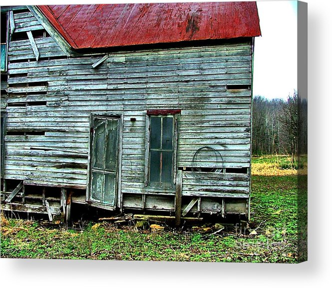 Old Abandoned Houses Acrylic Print featuring the photograph That Old House Down By The Creek by Julie Dant