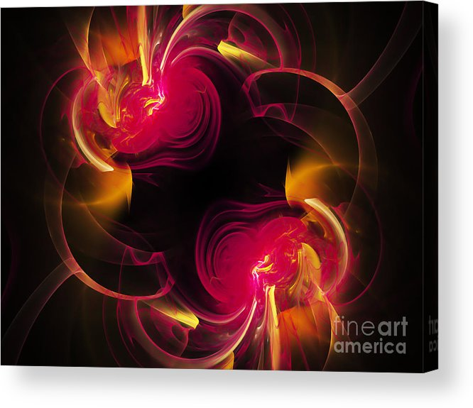 Fractal Acrylic Print featuring the digital art The Circle Of Love 2 by Andee Design