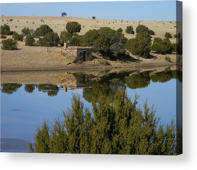 Landscape Acrylic Print featuring the photograph The Dugout by Sherry Beagle
