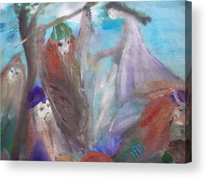 Waves Acrylic Print featuring the painting The Gentle Waves Will Carry You Back To Me by Judith Desrosiers
