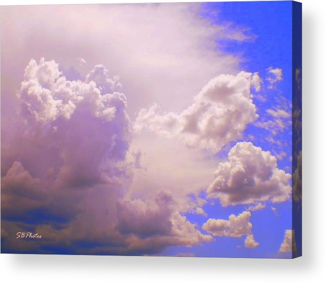 Blue Sky Acrylic Print featuring the photograph The Heavens Sing by Sylvia Bielefeldt