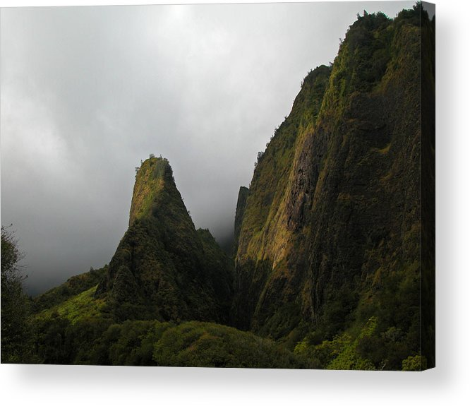Maui Acrylic Print featuring the photograph The Iao Needle by Lynn Bauer
