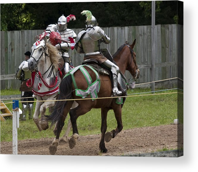 Medeival Acrylic Print featuring the photograph The Joust I by Charles Warren