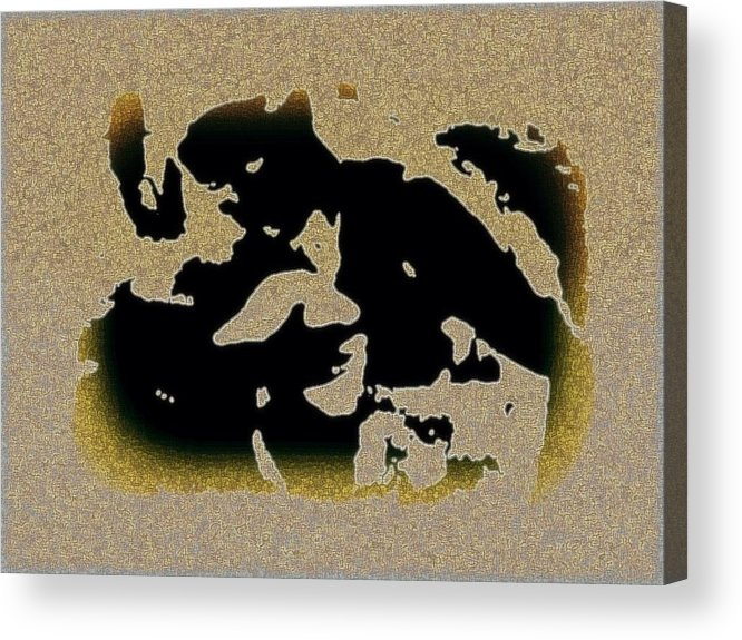 Abstract Acrylic Print featuring the mixed media The Parting by YoMamaBird Rhonda