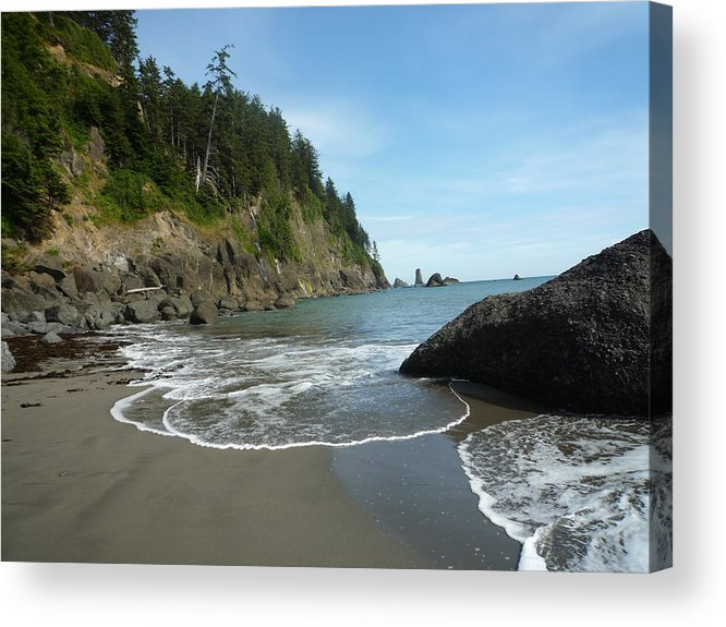 Landscapes Acrylic Print featuring the photograph Things Settling Down by Janet Matwiejow