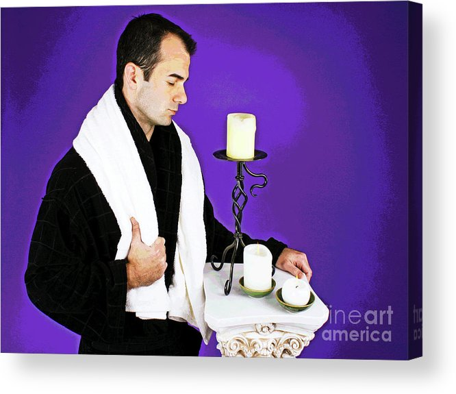 Spa Acrylic Print featuring the photograph Time Out by Larry Oskin