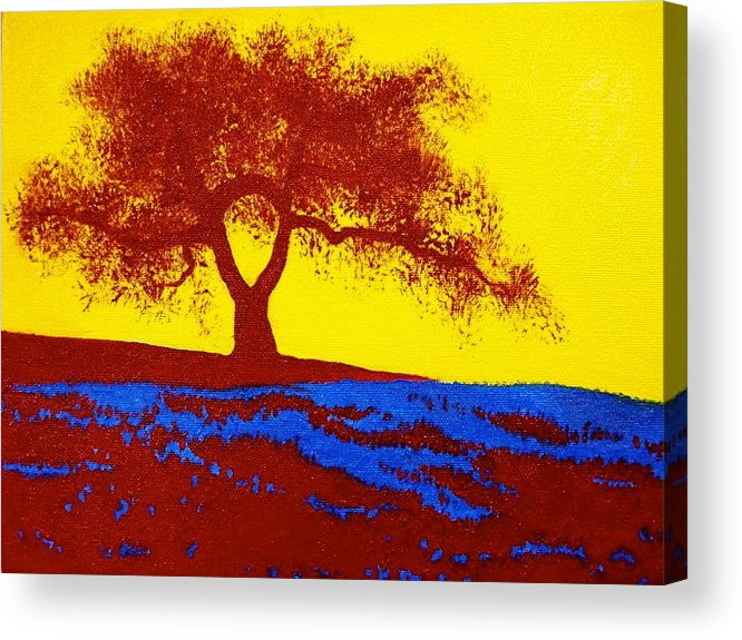 Tree Acrylic Print featuring the painting Tree Study 1 by Theresa Crawford