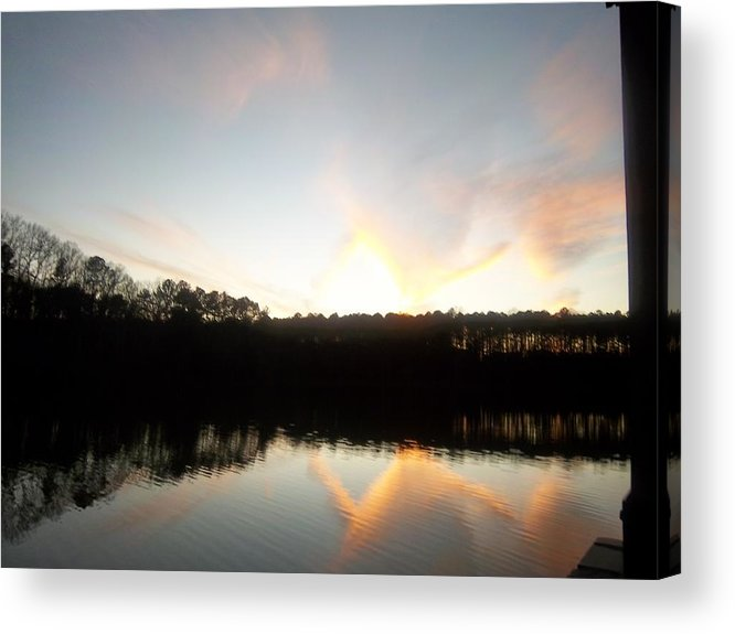 Turner Lake Acrylic Print featuring the photograph Turner Lake Sunset by Lynnette Brashear