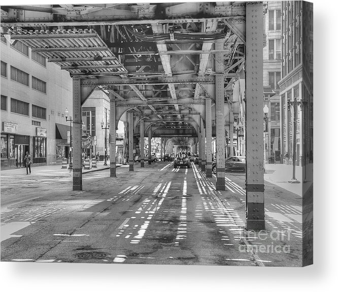 Chicago Illinois Acrylic Print featuring the photograph Under Wabash Avenue by David Bearden