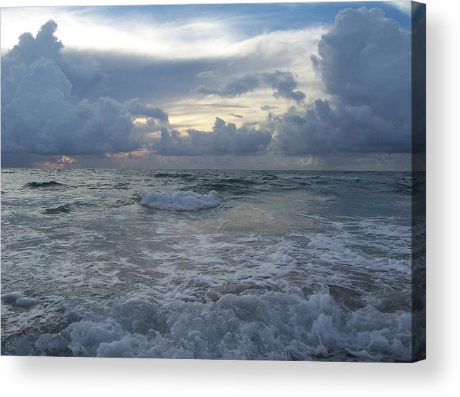 Waves Acrylic Print featuring the photograph Up Close And Personal by Sheila Silverstein