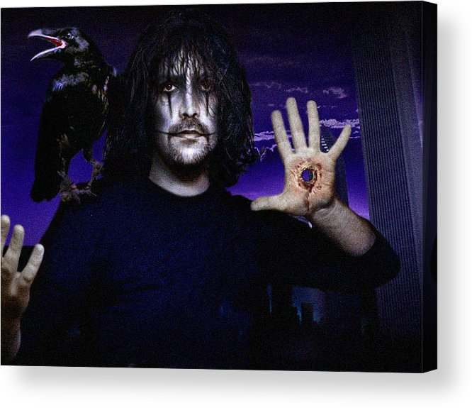 The Crow Acrylic Print featuring the digital art Victims... Aren't We All? by Alessandro Della Pietra