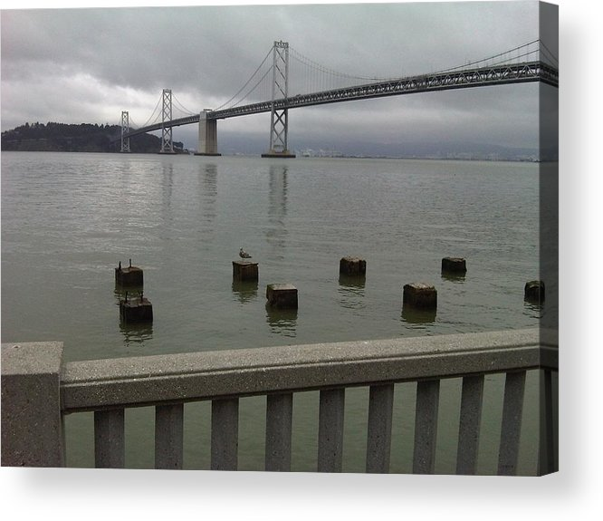 Bay Bridge Acrylic Print featuring the photograph View From Embarcadero by Nimmi Solomon