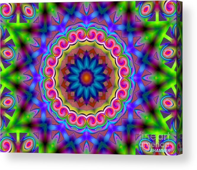 Bright Acrylic Print featuring the digital art Visual Symphony by Bobby Hammerstone