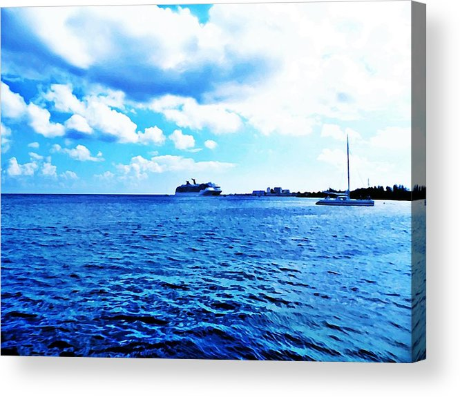 Landscape Acrylic Print featuring the photograph Water View by Ridge Waguespack