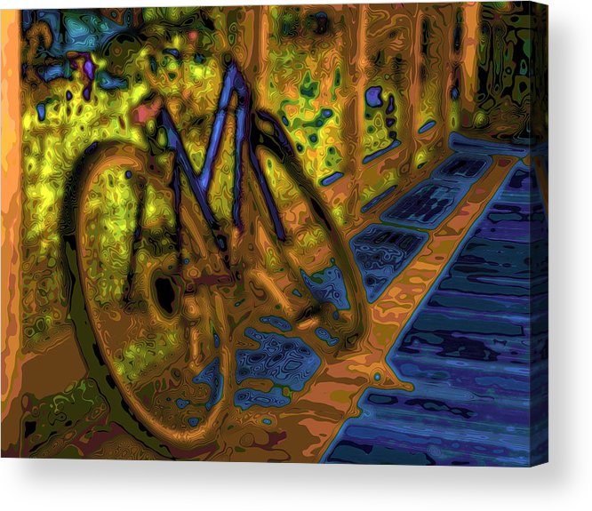 Digital Art Acrylic Print featuring the photograph Wheels At Rest by Diana Cox