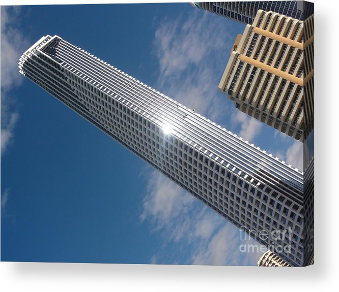 Skyscraper Acrylic Print featuring the photograph Window Cleaning by David Peters
