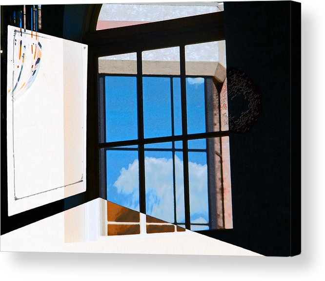 Abstract Acrylic Print featuring the photograph Window Treatment by Lenore Senior