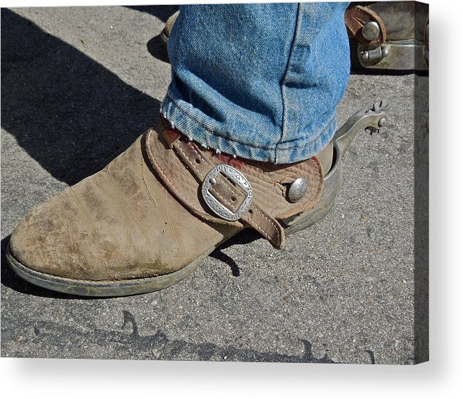 Boots Acrylic Print featuring the photograph Work Boots by Diana Hatcher