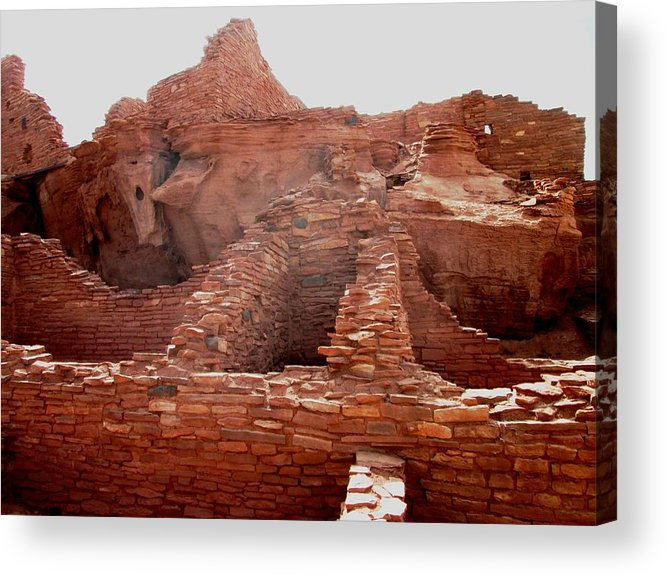 Pueblo Ruin Acrylic Print featuring the photograph Wupatki National Monument by Pasha Sourbeer