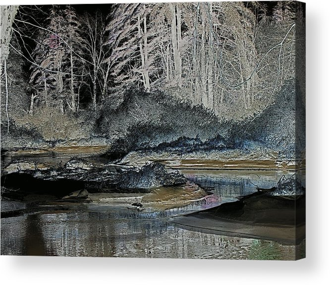 Digital Acrylic Print featuring the photograph Iced View by Peter Gray